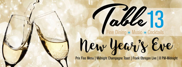 New Year\'s Eve Dinner 2017 | Table 13 Addison